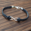 silver-infinity-bracelet-black-wax-cord-leather