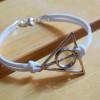 white leather bracelet harry potter single bracelet