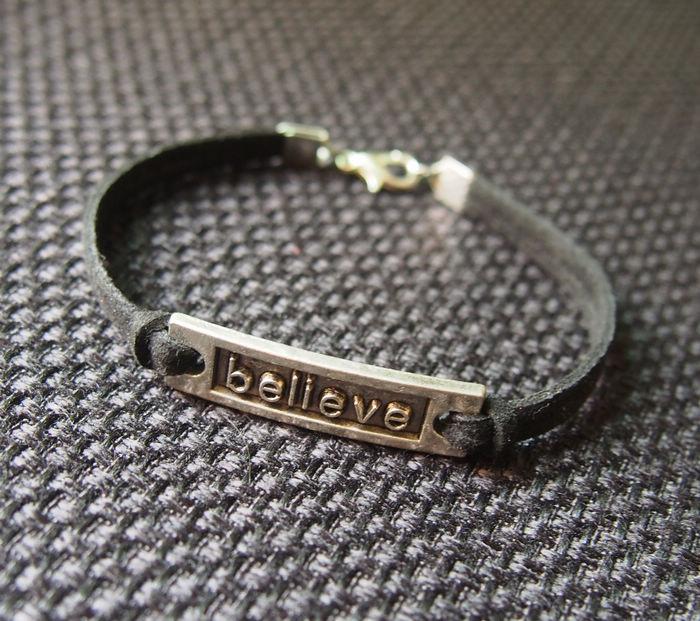 Believe Bracelet Silver Whole