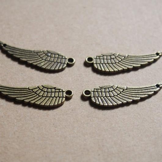 bronze angel wings alloy pendant