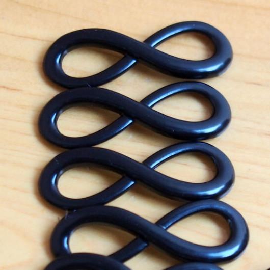 wholesale-craft-supplies-alloy-pendants-infinity-antique-black-color