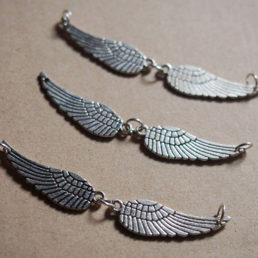wings silver pendant
