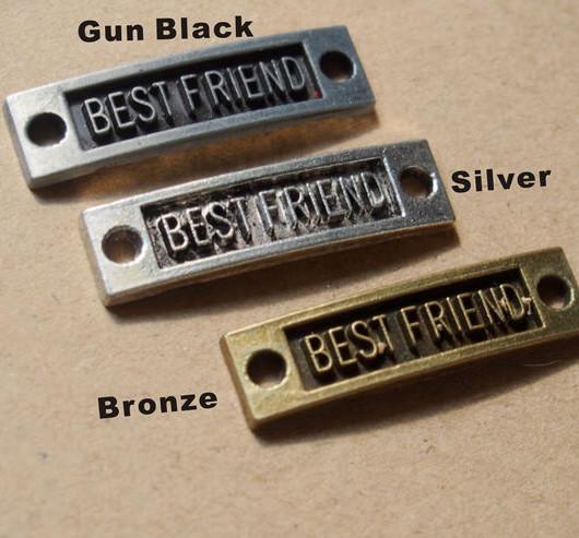 Letters word of best friend pendants