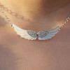 Unique-necklace-bling-angel-wings-diamond-copper-necklace-for-girl
