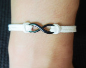 black-and-white-leather-infinity-bracelet-wholesale