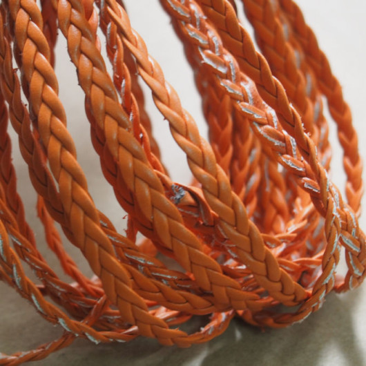 bracelet-supplies-braid-leather-orange