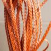 braided-leather-orange-color