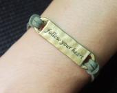 follow-your-heart-army-green-leather-bracelet-online-buy