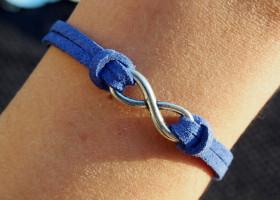 infinity-bracelet-blue-leather