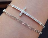 Cross-bracelet-bling-silver
