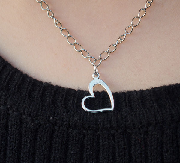 Fresh Heart Necklace in silver for girls, Charm Necklace for women, Best  BN64