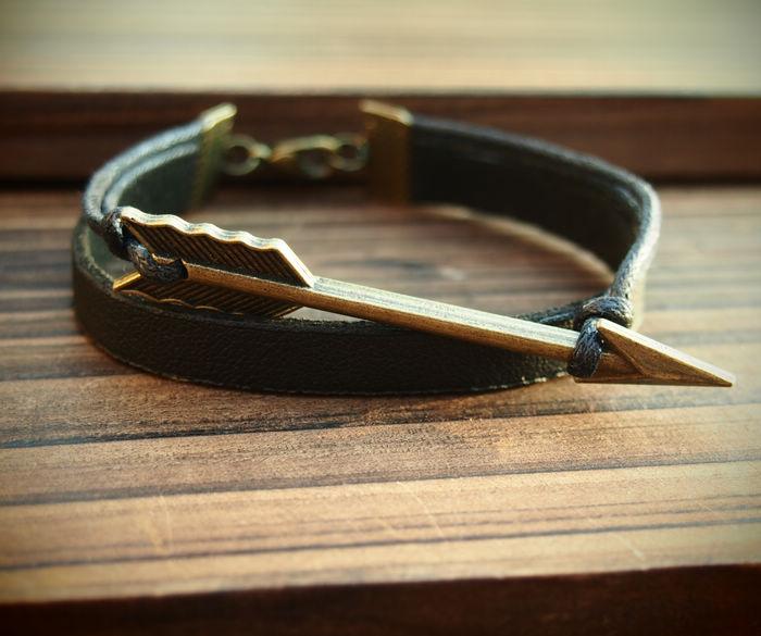 Handmade Bracelet For Men Arrow Leather Bracelet Handmade