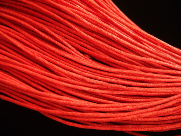 Hot Red Wax Cord 1 5mm Good Quality Wax Cotton Rope