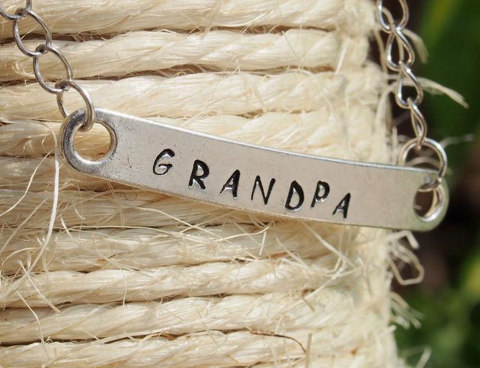 grandpa bracelet  bracelet for grandpa  hand stamping bracelet  bracelet  engraved bracelet