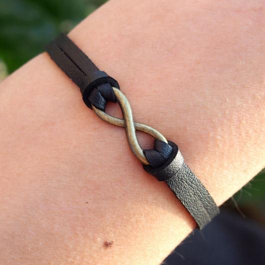 infinity-bracelets-leather-black