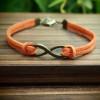 infinitybraceletorange-imitation-leather-bracelet