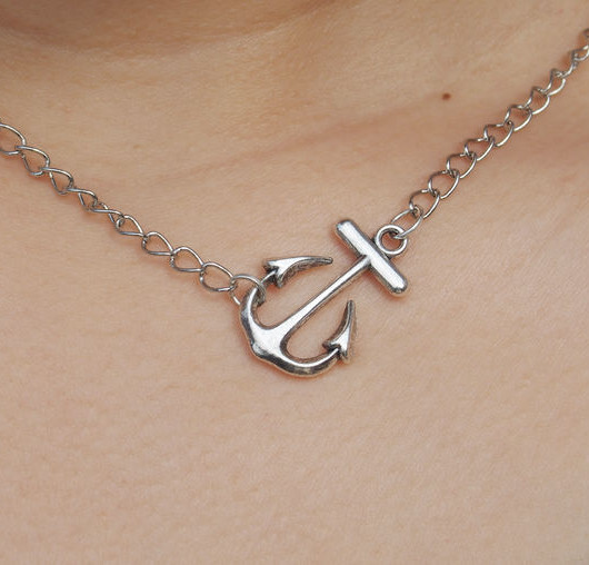 necklace-anchor-silver-for-girls