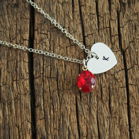 1-stampled-letter-inital-necklace-with-gemstone-red
