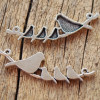 Love birds, mommy bird with three baby birds pendants