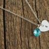 engraved-letter-hand-stamped-necklace-silver-gems