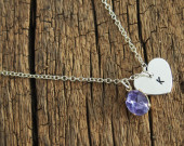engraved-tage-necklace-with-purple-gemstone-for-bridal