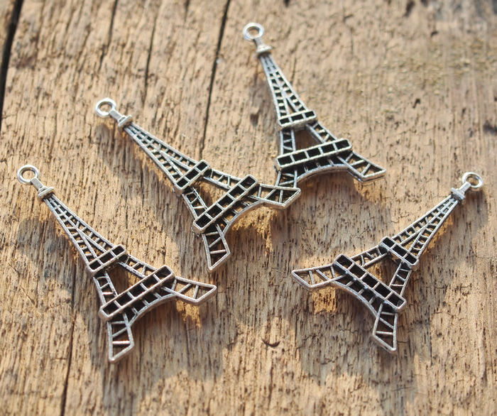 Eiffel tower pendants findings wholesale bronze silver 4524mm silver eiffel tower pendant mozeypictures Image collections