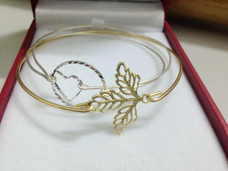 Handmade Wire jewelry, Branch flower leaf bracelet for mom,16G wire ...