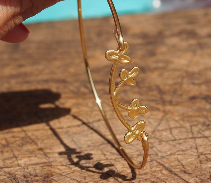 Handmade Wire Jewelry Branch Flower Leaf Bracelet For Mom