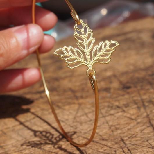 leaf-bracelet-wire-bracelet