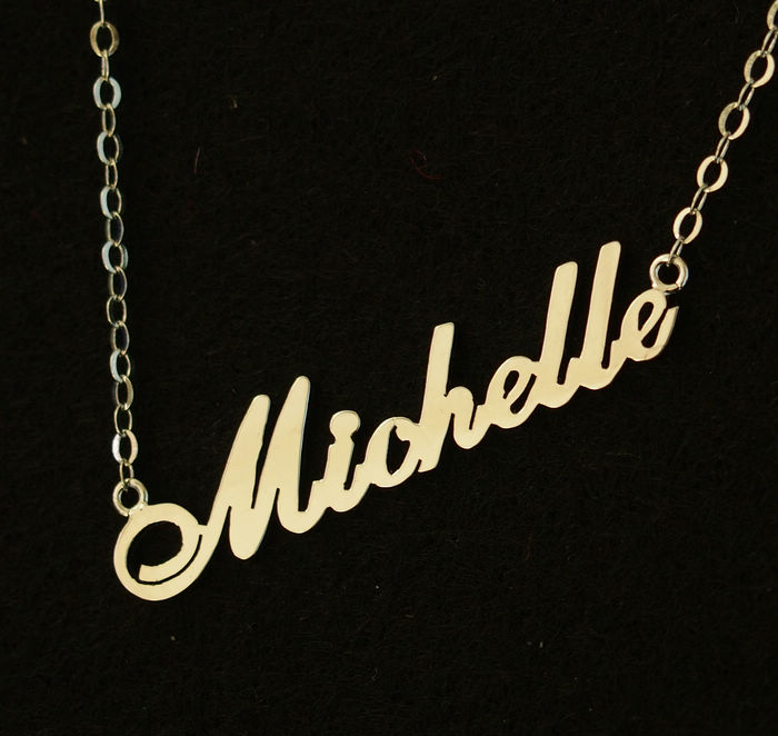 personalized name necklace bridal necklace wedding gift 18k gold