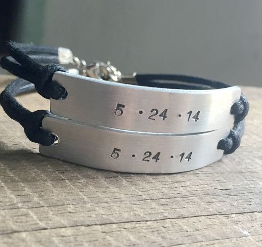 anniversary date bracelet