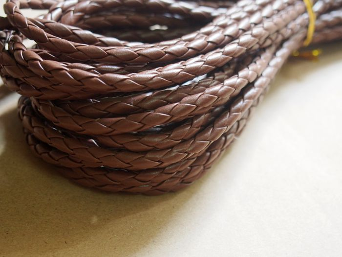 Round Braid leather supplies wholesale, DIY jewelry Rope