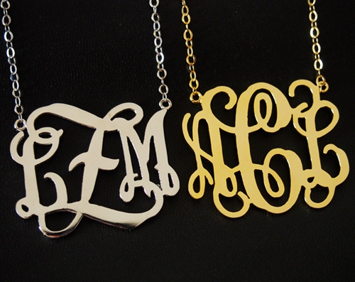 monogram-necklace-gold-silver