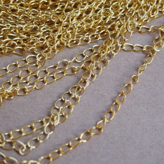 diy craft supplies chain gold wholesale pure brass  bracelet supplies  extended chain  discount