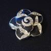 black-flower-pendants
