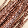 braid leather brown