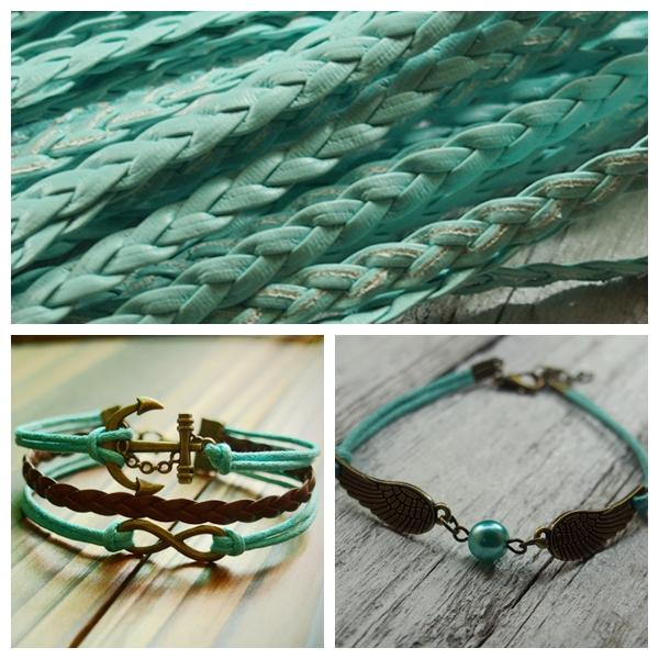 Mint braid leather wholesale craft supplies pu braided for Wholesale leather craft supplies