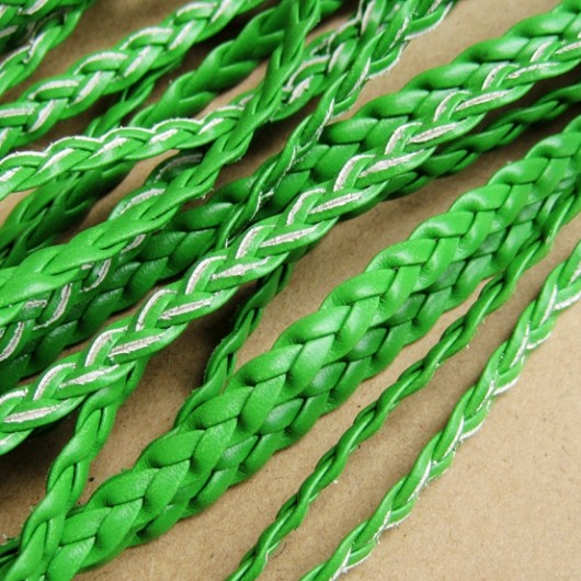 braid leather, green
