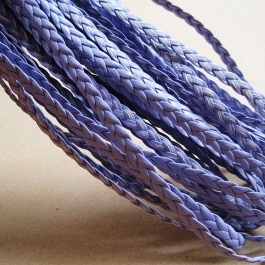 braid leather, purple
