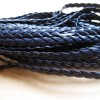 braid leather, sea blue