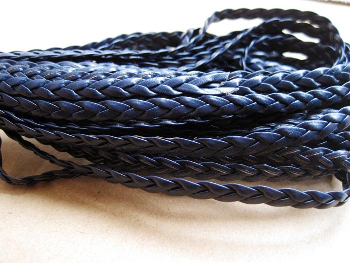 Sea blue braid leather wholesale craft supplies pu for Wholesale leather craft supplies