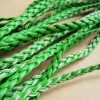 braided leather, green