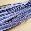 braided leather, light purple