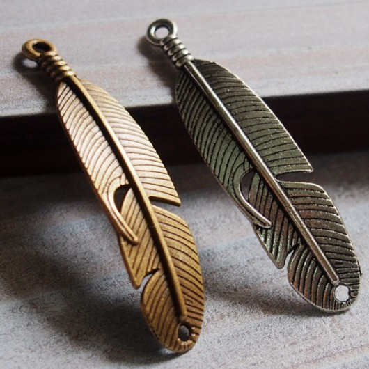 feather-pendants-bronze-silver