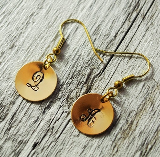 monogram-earrings-engraved-earrings