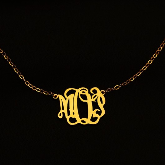 monogram-necklace-gold