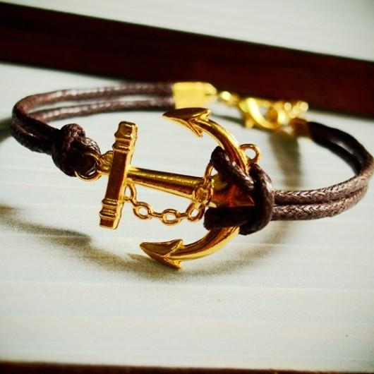 Anchor-bracelet-gold