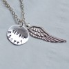 Initials-necklace-wings-necklace-silver