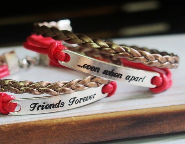 best-friend-bracelets-silver-charm