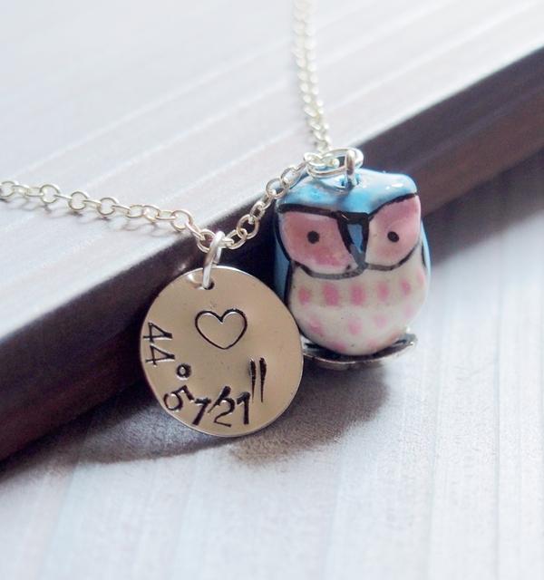 location-necklace-owl-necklace